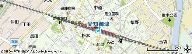 愛知県豊川市周辺の地図