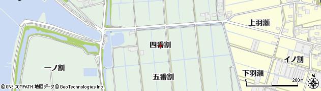 愛知県西尾市一色町細川(四番割)周辺の地図