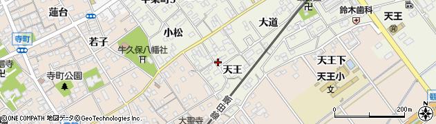 愛知県豊川市中条町(天王)周辺の地図