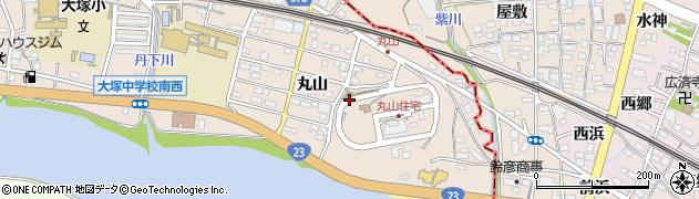 愛知県蒲郡市大塚町(丸山)周辺の地図