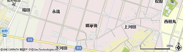 愛知県西尾市一色町池田(郷戸後)周辺の地図