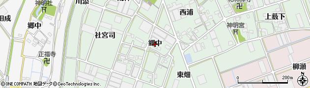 愛知県豊川市院之子町(郷中)周辺の地図