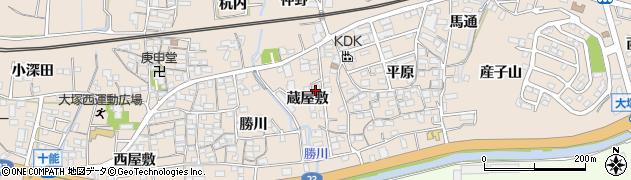 愛知県蒲郡市大塚町(蔵屋敷)周辺の地図