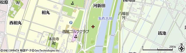 愛知県西尾市一色町大塚(上野新田)周辺の地図