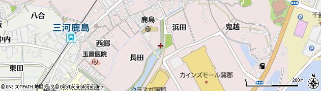 愛知県蒲郡市鹿島町周辺の地図
