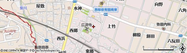 愛知県豊川市御津町大草周辺の地図
