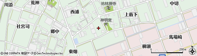 愛知県豊川市土筒町(前屋敷)周辺の地図