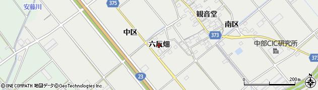 愛知県豊川市御津町上佐脇(六反畑)周辺の地図