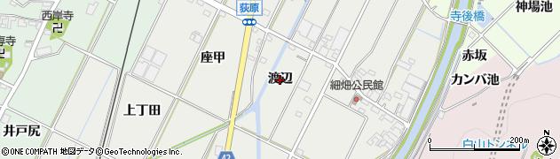 愛知県西尾市吉良町荻原(渡辺)周辺の地図