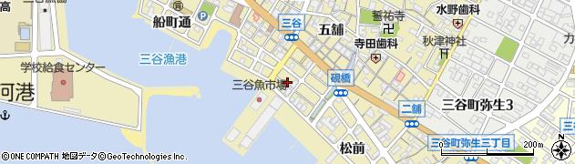愛知県蒲郡市三谷町(港町通)周辺の地図