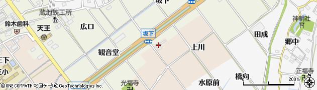 愛知県豊川市西島町(上川)周辺の地図