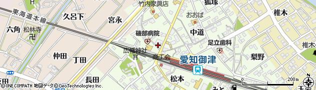 まる屋料理店周辺の地図