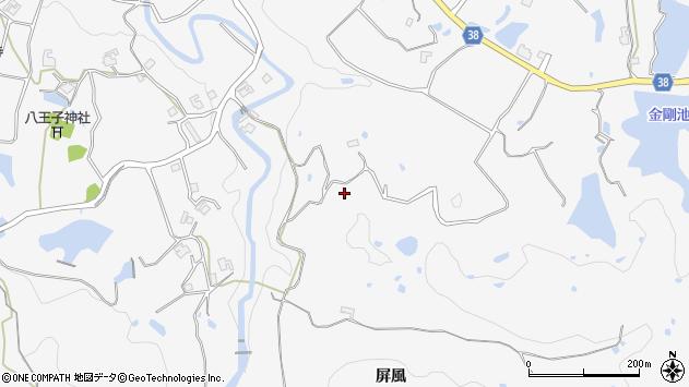 〒651-1344 兵庫県神戸市北区八多町屏風の地図