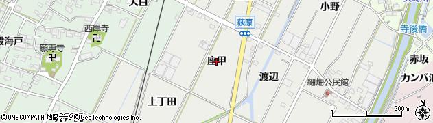 愛知県西尾市吉良町荻原(座甲)周辺の地図