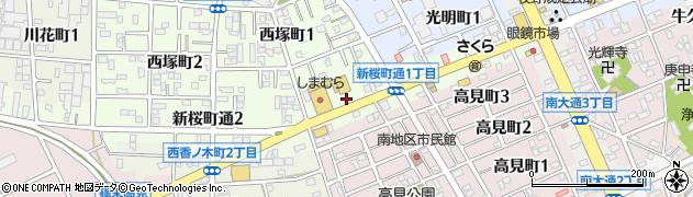 愛知県豊川市新桜町通周辺の地図
