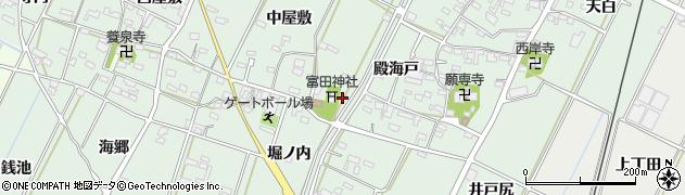 愛知県西尾市吉良町富田周辺の地図