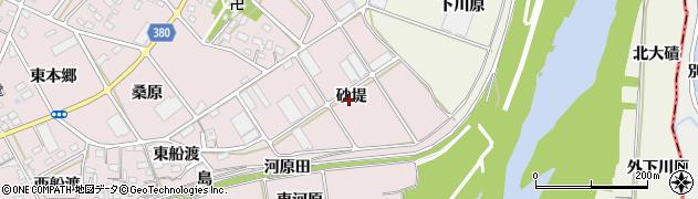 愛知県豊川市当古町(砂堤)周辺の地図
