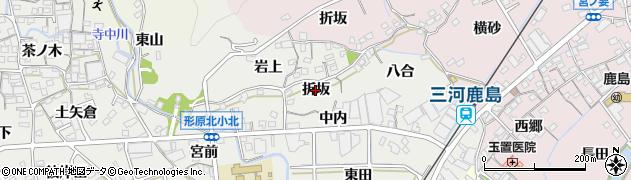 愛知県蒲郡市金平町(折坂)周辺の地図