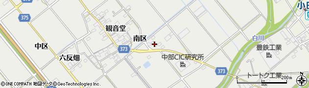 愛知県豊川市御津町上佐脇(大郡)周辺の地図