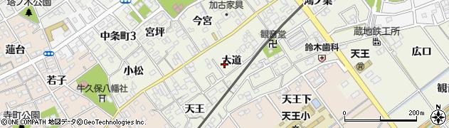 愛知県豊川市中条町(大道)周辺の地図