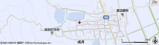 兵庫県加古川市志方町(成井)周辺の地図
