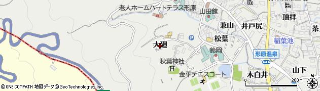 愛知県蒲郡市金平町(大廻)周辺の地図