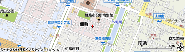 兵庫県姫路市佃町周辺の地図