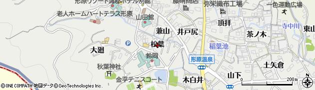 愛知県蒲郡市金平町(松葉)周辺の地図