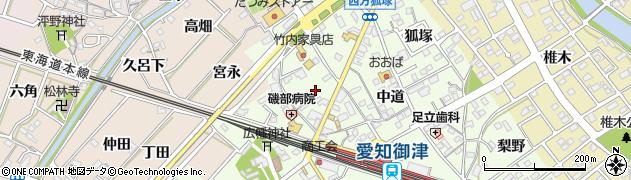 愛知県豊川市御津町西方(小貝津)周辺の地図