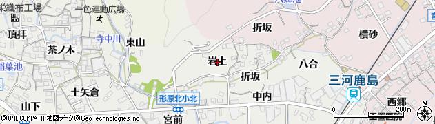 愛知県蒲郡市金平町(岩上)周辺の地図
