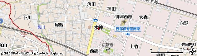 愛知県豊川市御津町赤根(水神)周辺の地図