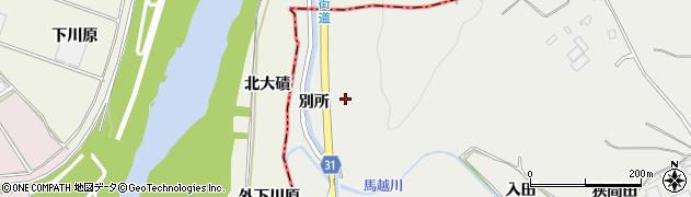 愛知県豊橋市石巻本町(別所)周辺の地図