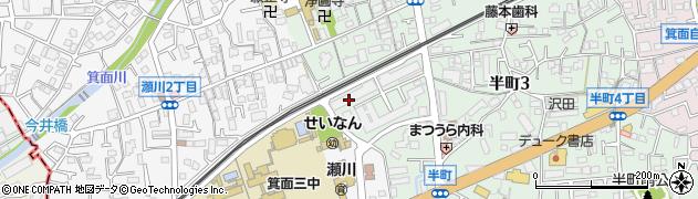 日商岩井箕面ハイツ周辺の地図