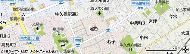 愛知県豊川市牛久保町(蓮台)周辺の地図