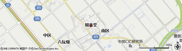 愛知県豊川市御津町上佐脇(観音堂)周辺の地図