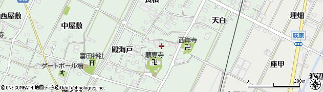 愛知県西尾市吉良町富田(東屋敷)周辺の地図