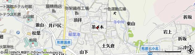愛知県蒲郡市金平町(茶ノ木)周辺の地図