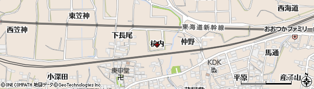 愛知県蒲郡市大塚町(杭内)周辺の地図