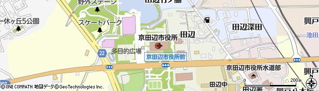 京都府京田辺市周辺の地図
