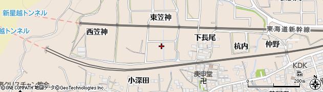 愛知県蒲郡市大塚町(南笠神)周辺の地図