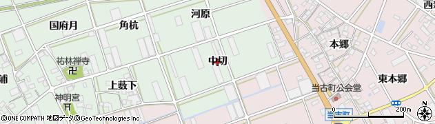 愛知県豊川市土筒町(中切)周辺の地図