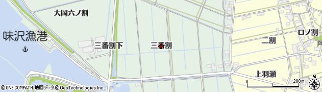 愛知県西尾市一色町細川(三番割)周辺の地図