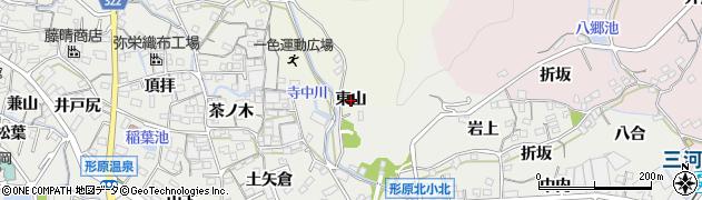 愛知県蒲郡市一色町(東山)周辺の地図