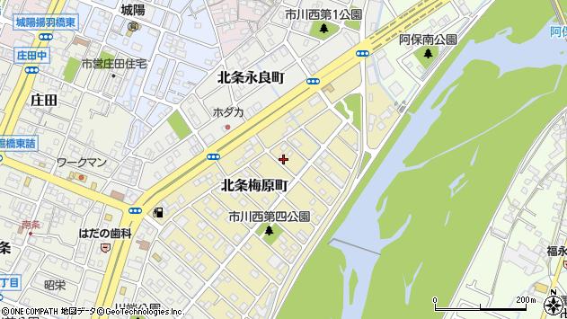 〒670-0945 兵庫県姫路市北条梅原町の地図