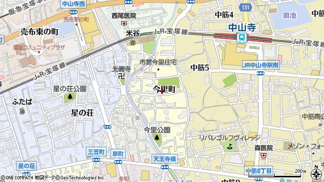 〒665-0862 兵庫県宝塚市今里町の地図