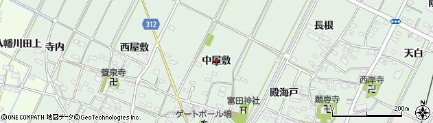 愛知県西尾市吉良町富田(中屋敷)周辺の地図