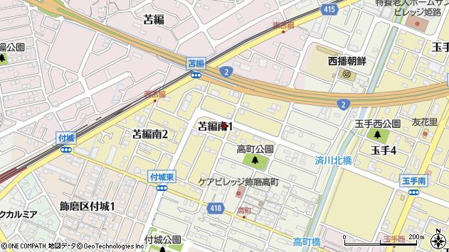 〒670-0987 兵庫県姫路市苫編南の地図