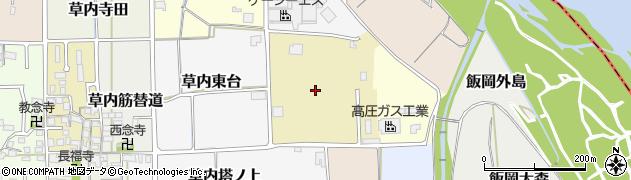 京都府京田辺市草内能戸周辺の地図