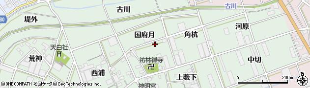 愛知県豊川市土筒町周辺の地図