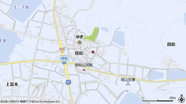 〒675-0313 兵庫県加古川市志方町投松の地図